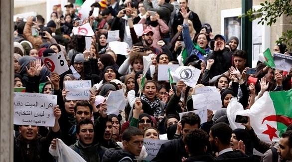 مظاهرات في الجزائر ضد ترشح بوتفليقة (أرشيف)