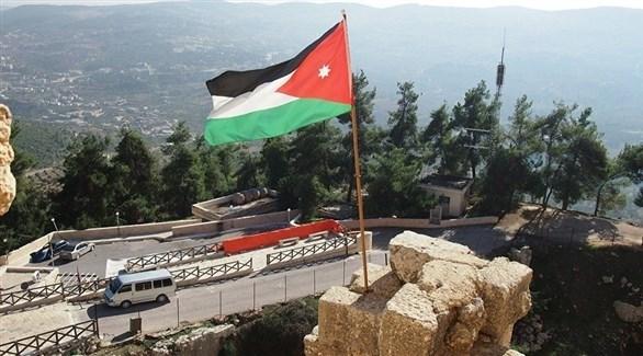 العلم الأردني على نقطة حدودية مع إسرائيل (أرشيف)