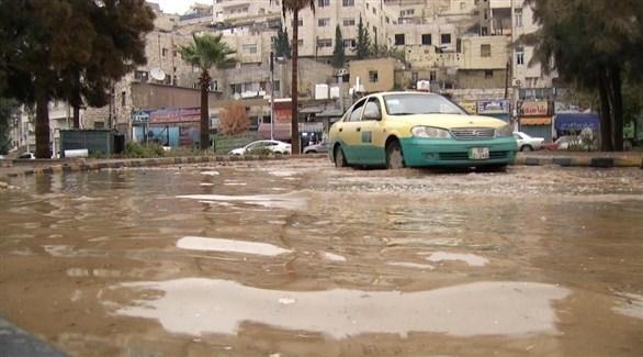 تجمع سيول في العاصمة الأردنية عمان (أرشيف)