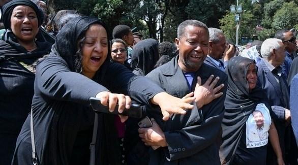 خلال تأبين ضحايا الطائرة الإثيوبية (EPA)