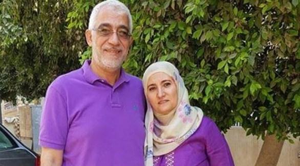 ابنة يوسف القرضاوي وزوجها (أرشيفية)