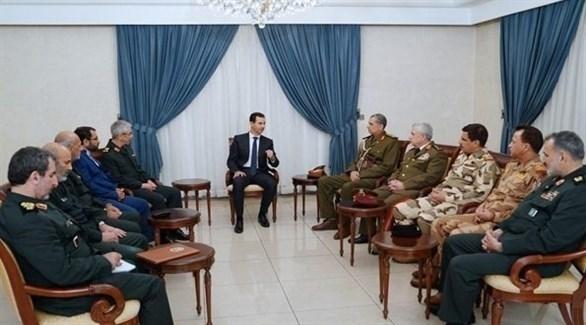 بشار الأسد يستقبل قادة الجيشين العراقي والإيراني (سانا)