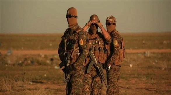 عناصر من قوات سوريا الديمقراطية في الباغوز (أرشيف)