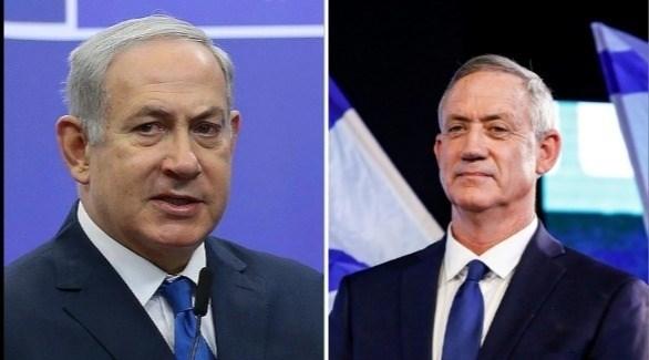 رئيس حزب أزرق أبيض غانتس ورئيس الوزراء الإسرائيلي بنيامين نتانياهو (أرشيف)