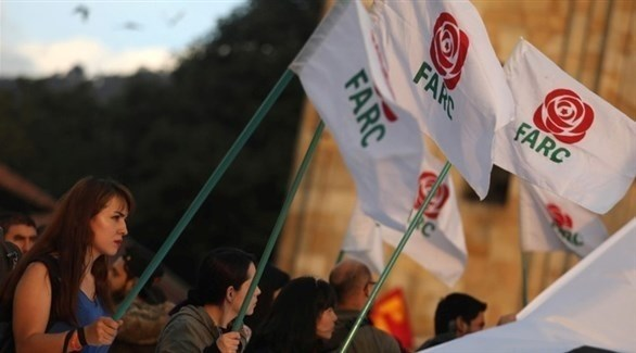 مؤيدون لفارك الكولومبية في مظاهرات دفاعاً عن السلام (تويتر)