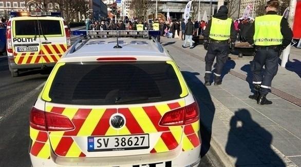 الشرطة النرويجية تطوق مكان الهجوم (تويتر)