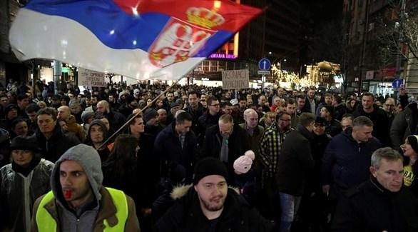 احتجاجات في بلغراد(أرشيف)