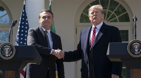 الرئيسان الأمريكي دونالد ترامب والبرازيلي جايير بولسونارو (أرشيف)