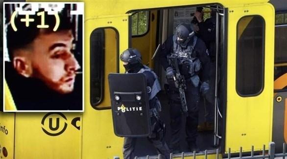 صورة منفذ الهجوم في أوتريخت وعربة القطار التي شهدت الجريمة (أرشيف)