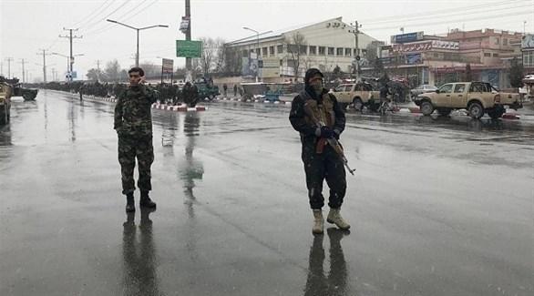 جنديان أفغانيان في العاصمة كابول (أرشيف)