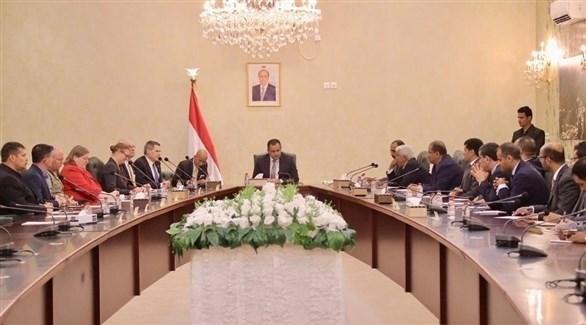 اجتماع رئيس الوزراء اليمني بالوفد الأمريكي (سبأ)