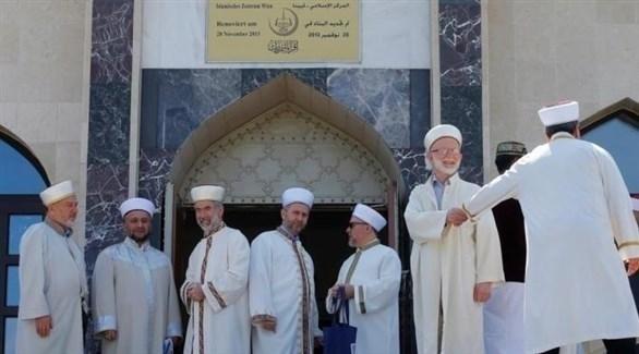 أئمة أتراك في إحدى مساجد النمسا (أرشيف)