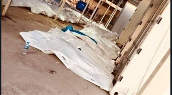 جثث لبعض ضحايا غرق عبارة الموصل (تويتر)