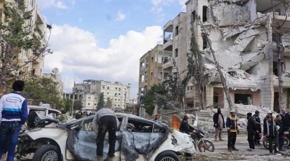 سيارة النائب العام التي تم تفجيرها (المرصد السوري)