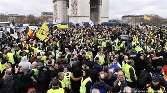 مظاهرات السترات الصفراء في باريس (أرشيف)
