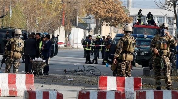انتشار أمني في موقع انفجار سابق بأفغانستان (أرشيف)