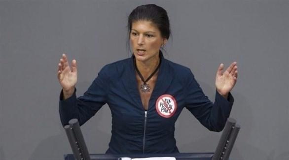 رئيسة الكتلة البرلمانية اليسارية المعارضة سارا فاجنكنشت (أرشيف)