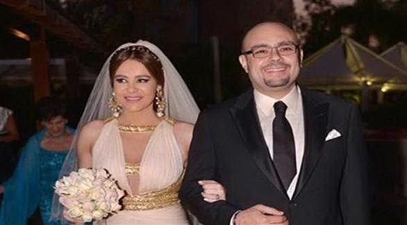 كارول سماحة وطليقها رجل الأعمال المصري وليد مصطفي (أرشيف)