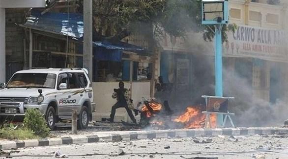 مقاتلون من حركة الشباب الإرهابية خلال اشباكات مع الأمن الصومالي (أرشيف)