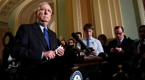 زعيم الغالبية الجمهورية في مجلس الشيوخ الأمريكي ميتش ماكونيل (أرشيف)
