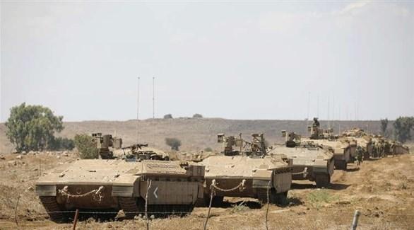 دبابات جيش الاحتلال الإسرائيلي في الجولان (أرشيف)