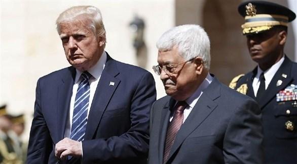 الرئيس الفلسطيني محمود عباس ورئيس أمريكا دونالد ترامب (أرشيف)