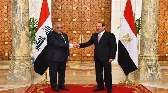 الرئيس المصري عبد الفتاح السيسي ورئيس الوزراء العراقي عادل عبد المهدي (أرشيف)