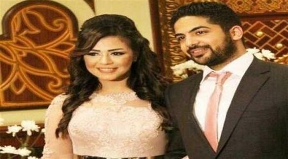 شاهيناز ضياء الدين وزوجها إيهاب محمود (أرشيف)