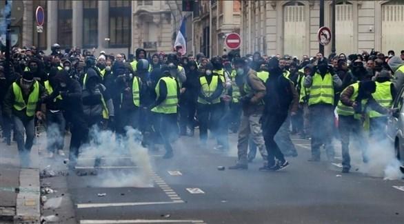 تتظاهرة سابقة للسترات الصفراء في باريس (أرشيف)