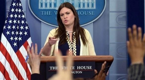 المتحدثة باسم البيت الأبيض سارة ساندرز (أرشيف)