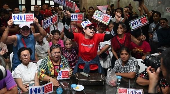حمى الانتخابات بعد اغلاق صناديق الاقتراع في تايلاند (أ ف ب)