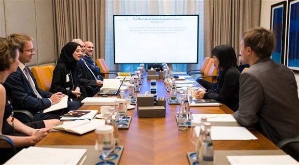 جانب من اجتماع مجلس الابتكار العالمي (من المصدر)