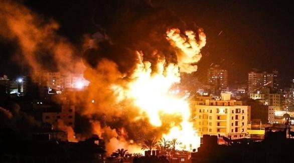 قصف إسرائيلي على قطاع غزة (تويتر)