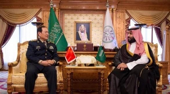الأمير محمد بن سلمان ووزير الدفاع الصيني وي فنغ هه (واس)