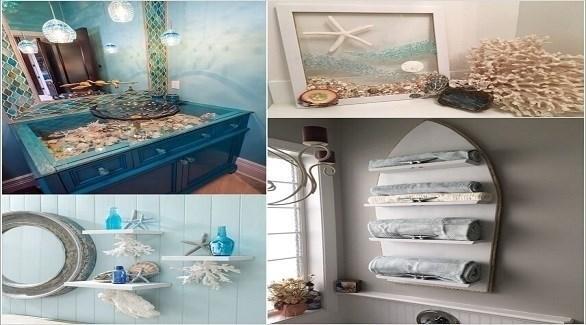 أفكار لديكور حمام بأجواء البحر