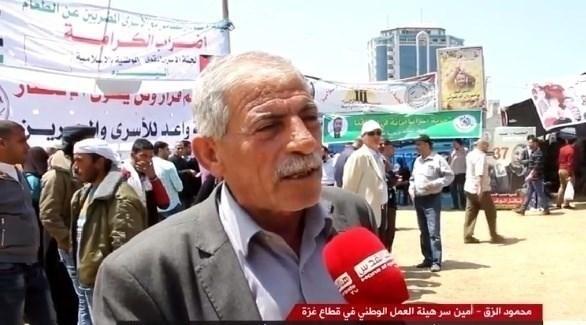 أمين سر هيئة العمل الوطني في غزة محمود الزق (أرشيف)