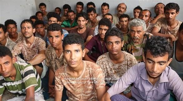 أسرى حوثيين في حجة (الإعلام الأمني)