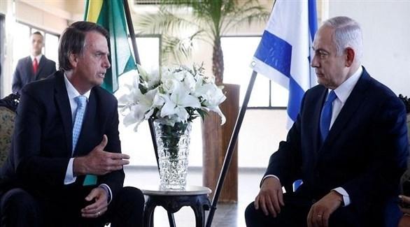 رئيس الوزراء الإسرائيلي بنيامين نتانياهو والرئيس البرازيلي جايير بولسونارو (أرشيف)