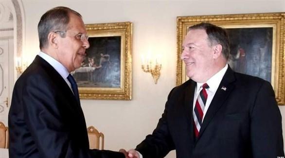 وزيرا الخارجية الأمريكي مايك بومبيو والروسي سيرغي لافروف (أرشيف)