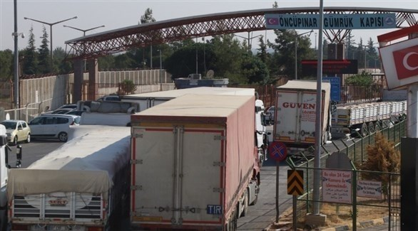 شاحنات تركية في طريقها إلى سوريا (أرشيف)