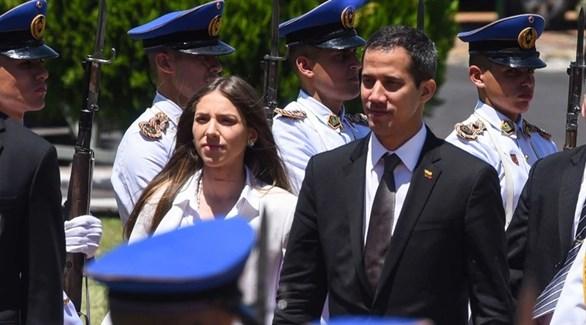زعيم المعارضة والرئيس المؤقت لفنزويلا وزوجته (أرشيف)