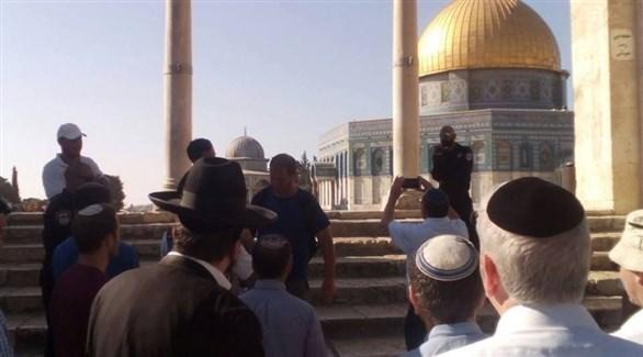متطرفون يهود في حرم مسجد الأقصى (أرشيف)