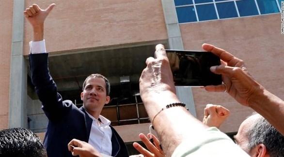 زعيم المعارضة في فنزويلا خوان غوايدو (أ ب)