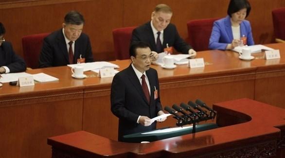 رئيس الوزراء الصيني لي كيكيانغ في الجلسة السنوية لمجلس الشعب (بلومبرغ)
