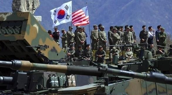 جنود من القوات الأمريكية وقوات كوريا الجنوبية في مناورة مشتركة سابقة (أرشيف)