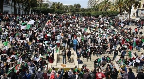 مظاهرات في الجزائر ضد ترشح بوتفليقة (تويتر)