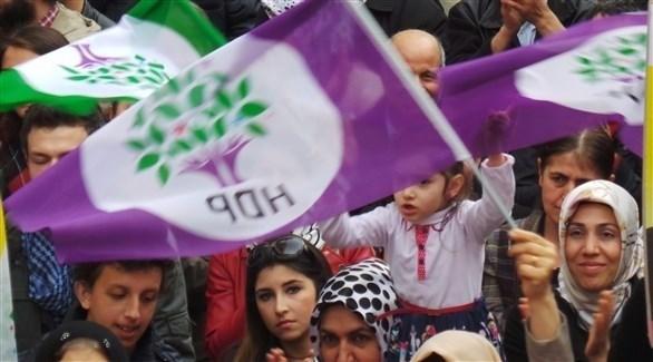 احتجاجات لأنصار حزب الشعوب الديمقراطي الموالي للأكراد في تركيا (أرشيف)