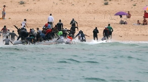 مهاجرون في طريقهم إلى إسبانيا (أرشيف)