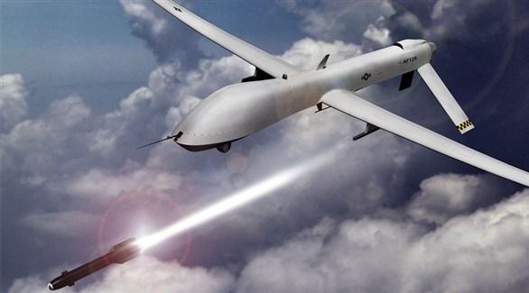 طائرة أمريكية دون طيار في إحدى الغارات (أرشيف)