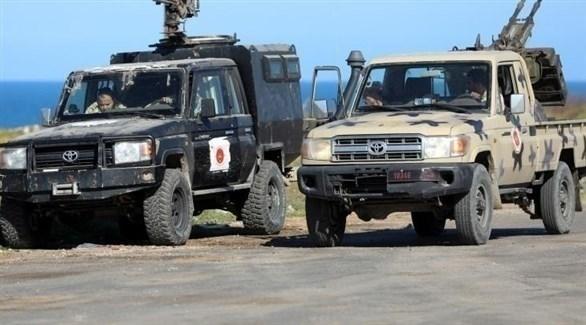 مدرعات وعناصر من الجيش الليبي (أرشيف)